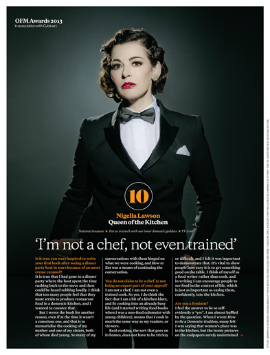 NIGELLA LAWSON-INTERNATIONAL LEADING AUTHOR & TV COOKING SENSATION